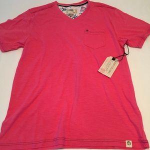 *NWT Free Planet Pink Short Sleeve V-neck T-shirt